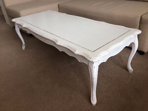 White rustic coffee table