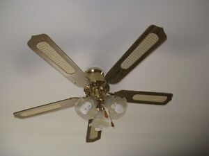 5 Blade ceiling fan with 3 lights... $20