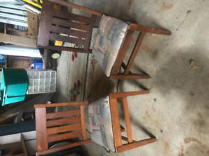 2 oak chairs for sale