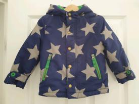 Mini Boden fleece lined coat 2-3 years