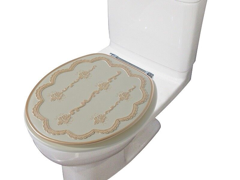heavy duty decorative round toilet seat round