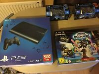 PS3 console and controllers.