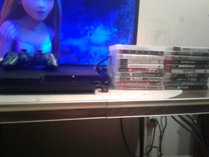 PS3,controller 20 games and all hookups
