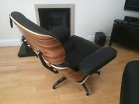 Charles Eames Relax lounge chair and Ottoman reproduction