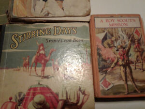ANTIQUE LOT OF BOYS BOOKS 1920'S