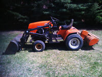 ARIENS HYDROSTATIC TRACTOR WITH FRONT END LOADER + ROTOTILLER