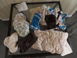 Ensemble 10 couches lavables en bambou Omaiki
