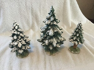 Dept 56 village snowy scotch pines (retired) Windsor Region Ontario image 2