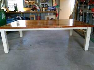 10 SEAT RECYCLED TIMBER FARMHOUSE TABLE Strathpine Pine Rivers Area Preview