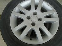 8 tires honda with rims very good tire winter tires