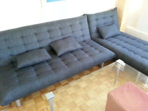 Structube sofa bed and lounge bed / futon / couch
