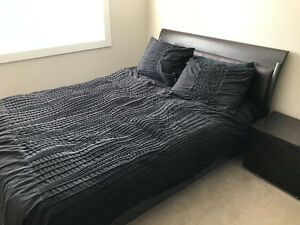 Queen Bed Frame. Great Condition. Two end tables