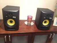 KRK ROKIT 6 (PAIR) G2 - COMPLETE WITH CABLES- 100%WORKING ORDER studio monitors