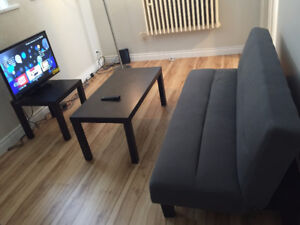 Mattress, TV, Tables, Microwave Oven