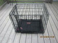 Dog cage with pad