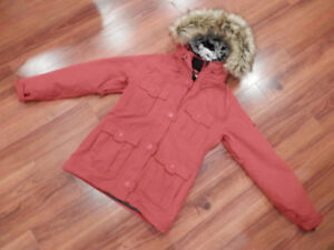 Lady's Winter Coat - Deep Red