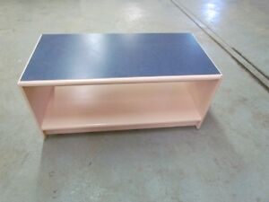 Long table- pink with blue top