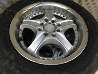 """4 MAG UNEVERSELLE avec 4 pneus d""""été 195/65R15"""