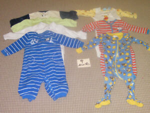 Boy's PJ's 9 months  (7 pieces)