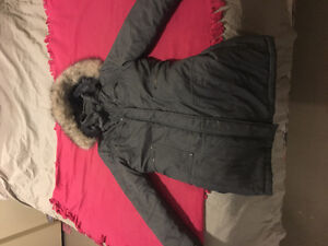 Womens grey parka coat