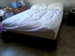 Queen Size Bed Frame With mattress $230 firm