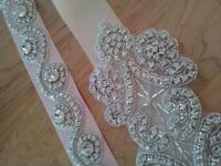 Crystal bridal belts wedding belt sash and veils