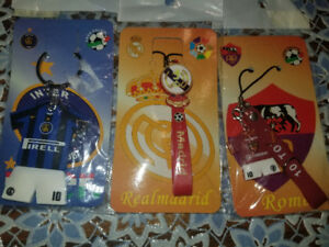 Inter, Real Madrid or Roma keychain / zipper chain