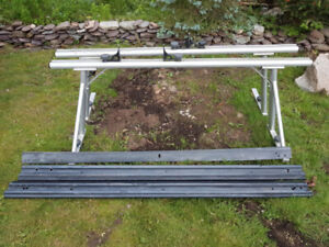 TRACK RAC for half ton truck. aluminum painted silver, ideal for