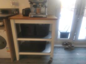 Ikea butcher block Island kitchen