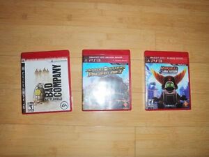 3 jeux PS3 comme neuf