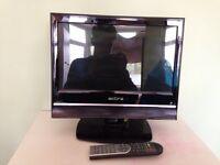 "16"" plasma screen TV with DVD player"