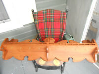 Plate Rack, Cup Hanger, Solid Maple