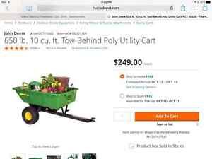 John Deere ride on trailer attachment