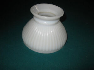 A SINGLE WHITE 6 inch RIBBED STUDENT LAMP SHADE