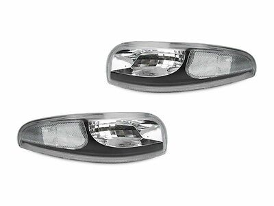 DEPO Black Clear Bumper Signal Lights For 1997-2004 Chevy Chevrolet Corvette - Black Bumper Signal Lights