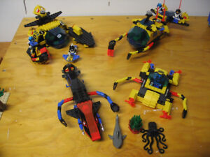 Collection of Lego Aquazone Aquanauts Sets from 1995-96