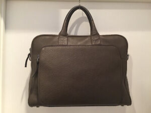 MACKAGE KHAKI PEBBLE LEATHER LAPTOP BAG - GREAT CONDITION