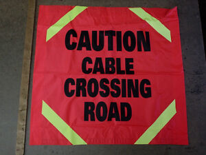 """Seismic Road Sign. """" Caution Cable Crossing Road"""" Brand New"""