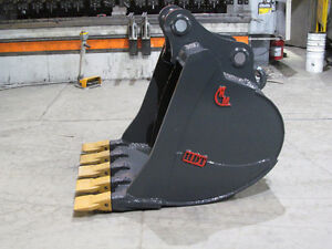 EXCAVATOR DIGGING BUCKET - CANADIAN BUILT - ALL SIZES