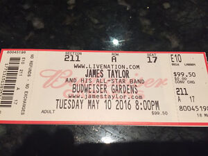 James Taylor - 3 seats together, Row A