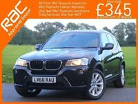 2010 BMW X3 xDrive20d SE 2.0 Turbo Diesel 184 PS 6 Speed Auto Sat Nav Bluetooth