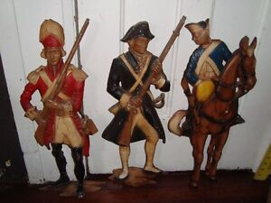 """Collectile set of 3 hanging plaque of """" soldier"""""""