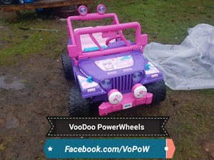12v power wheels barbie jeep kids ride on jeep