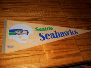 Sports Memorabilia Pennants Vintage Seattle Seahawks NFL
