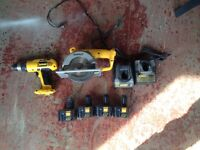 12v Dewalt Drill and Circular Saw