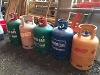 Butane bottles.