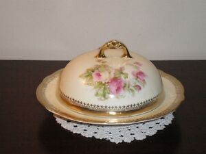 Antique covered buter dish