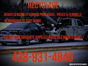 ◆◆438-931-4840◆◆Achat de véhicules $$