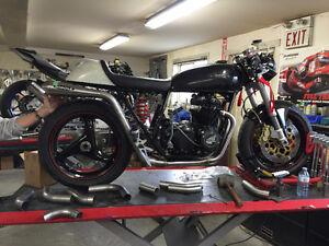 Custom Vintage Motorcycle Exhausts and Aluminum Triples Windsor Region Ontario image 3