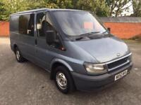 Ford Transit 280 2.0 TDI CREW CAB. PLYED & LINED. IDEAL CAMPER CONVERSION NO VAT